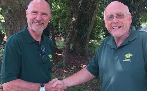 Peter Dixon and Adrian Thomas at Ed's Garden Maintenance