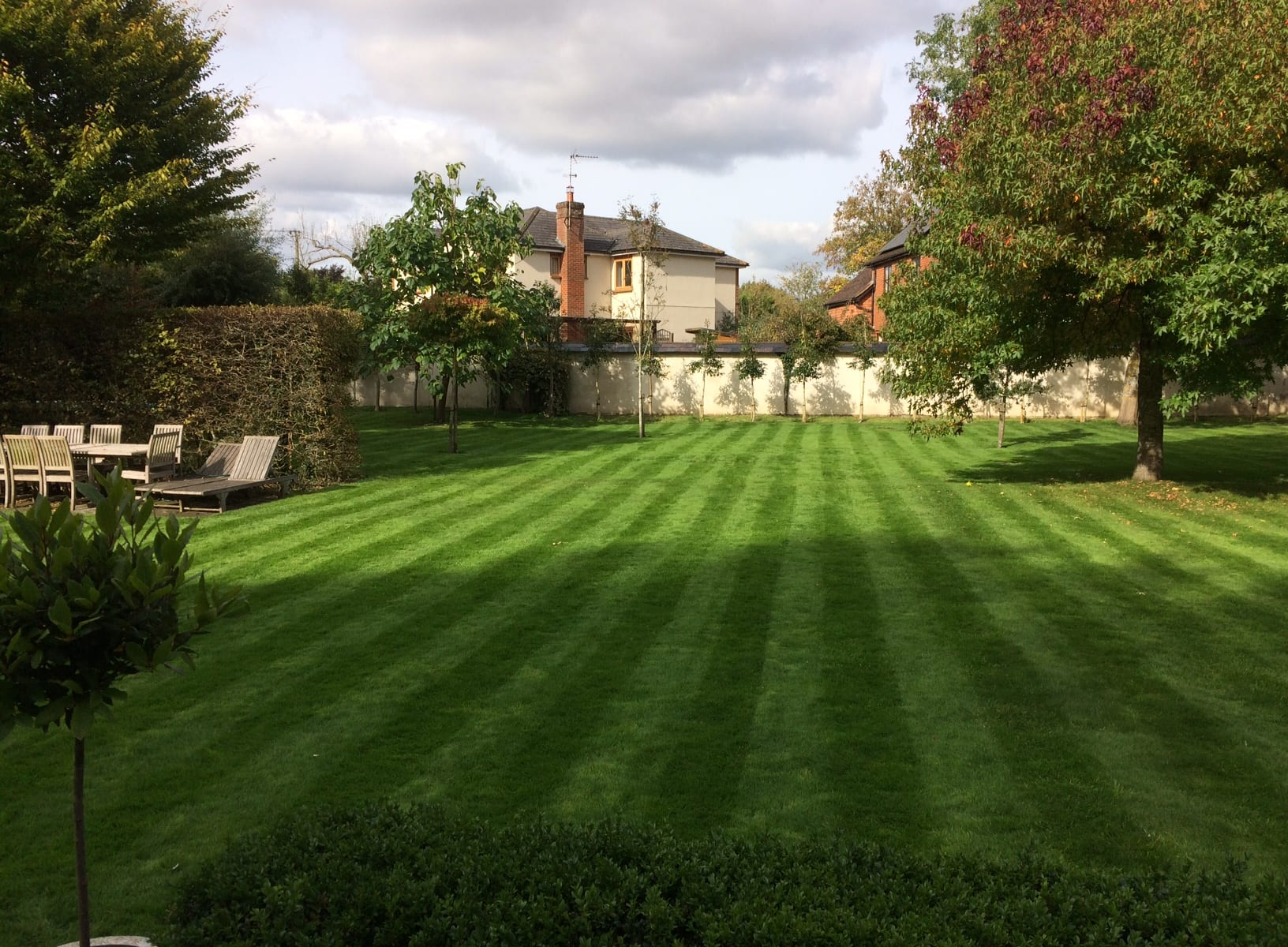 Perfect lawn mowing stripes
