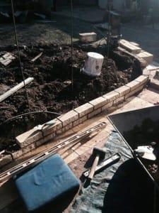 Ed's Garden Maintenance Extending a Garden Wall