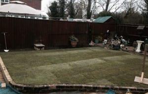 A New Garden lawn Turfed by Ed's Garden Maintenance