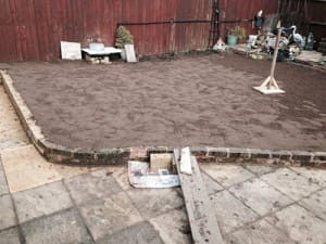 Preparing the ground for Turfing with Ed's Garden Maintenance