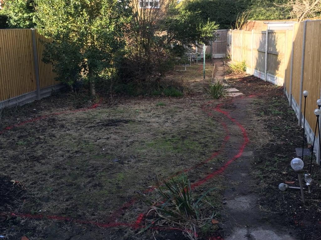 Garden Redesign Folkestone Before Photo