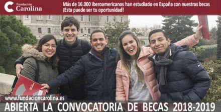 Fundación Carolina oferece 648 bolsas de estudo na Espanha