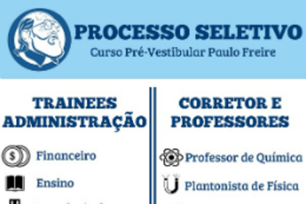 Curso Pré-Vestibular Paulo Freire recebe inscrições para voluntários até hoje