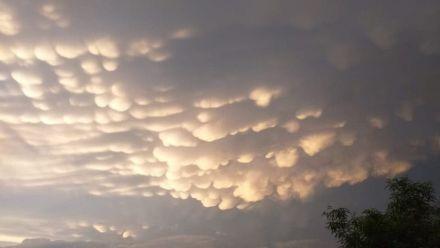 Nuvens chamam atenção no Oeste de Santa Catarina