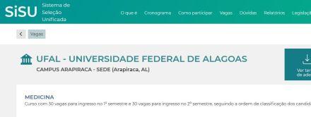Notas de corte para medicina em Alagoas estão mais altas no último dia do Sisu