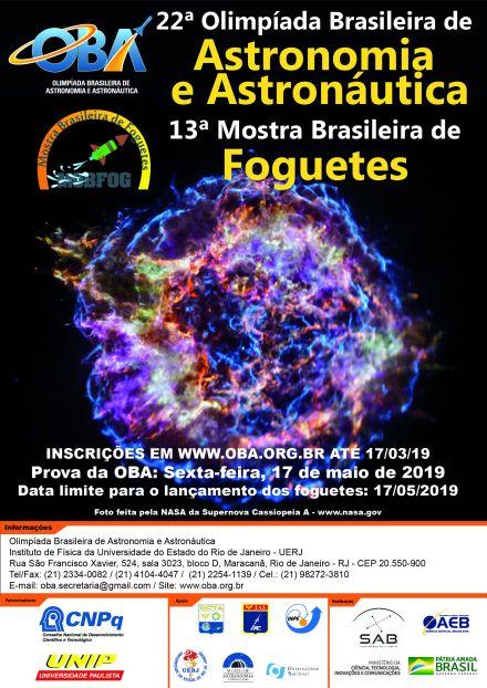 Inscrições para a 22ª Olimpíada Brasileira de Astronomia estão abertas