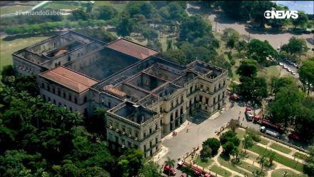 UFRJ define empresa que vai escorar a fachada do Museu Nacional