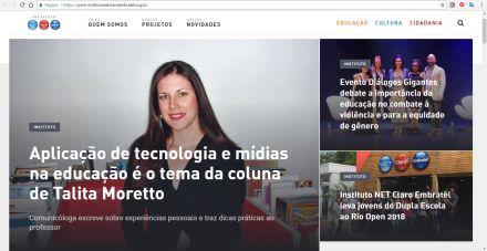Aplicação de tecnologia e mídias na educação é o tema da coluna de Talita Moretto