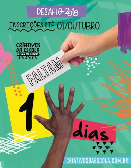 Desafio Criativos da Escola recebe inscrições até 1º de outubro