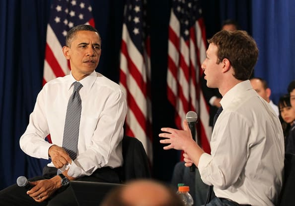 Mark Zuckerberg Obama Holds Facebook Town JU6fj8Q1JMml