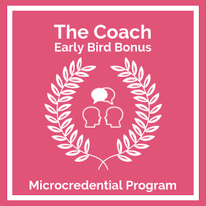 Early Bird The Coach Microcredential logo