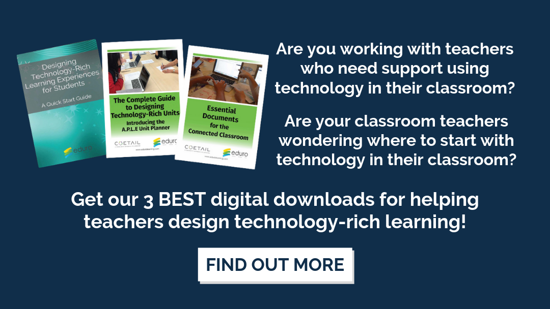 3 PDF Bundle for helping teachers design technology-rich learning