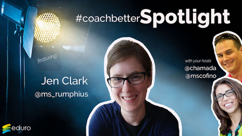 Episode 38: #coachbetter Librarian Spotlight with Jen Clark