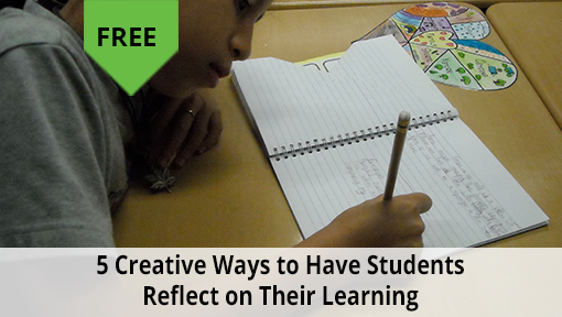 5 creative ways to have students reflect on their learning free digital download