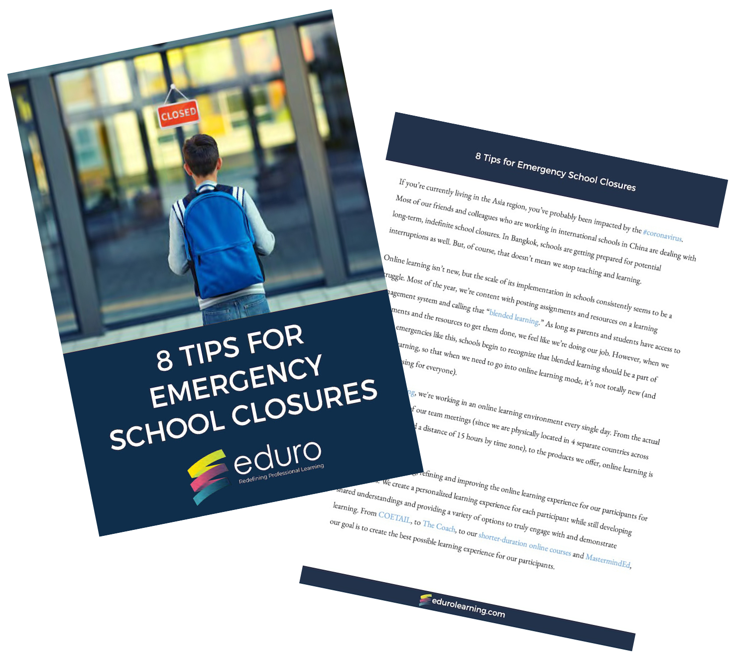 8 Tips for Emergency School Closures digital download