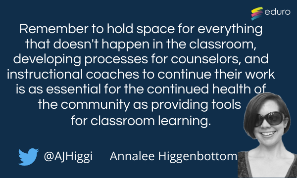 annalee higgenbottom top tip for online learning