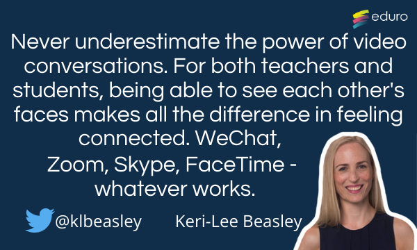 Keri-Lee Beasley top tip for online learning
