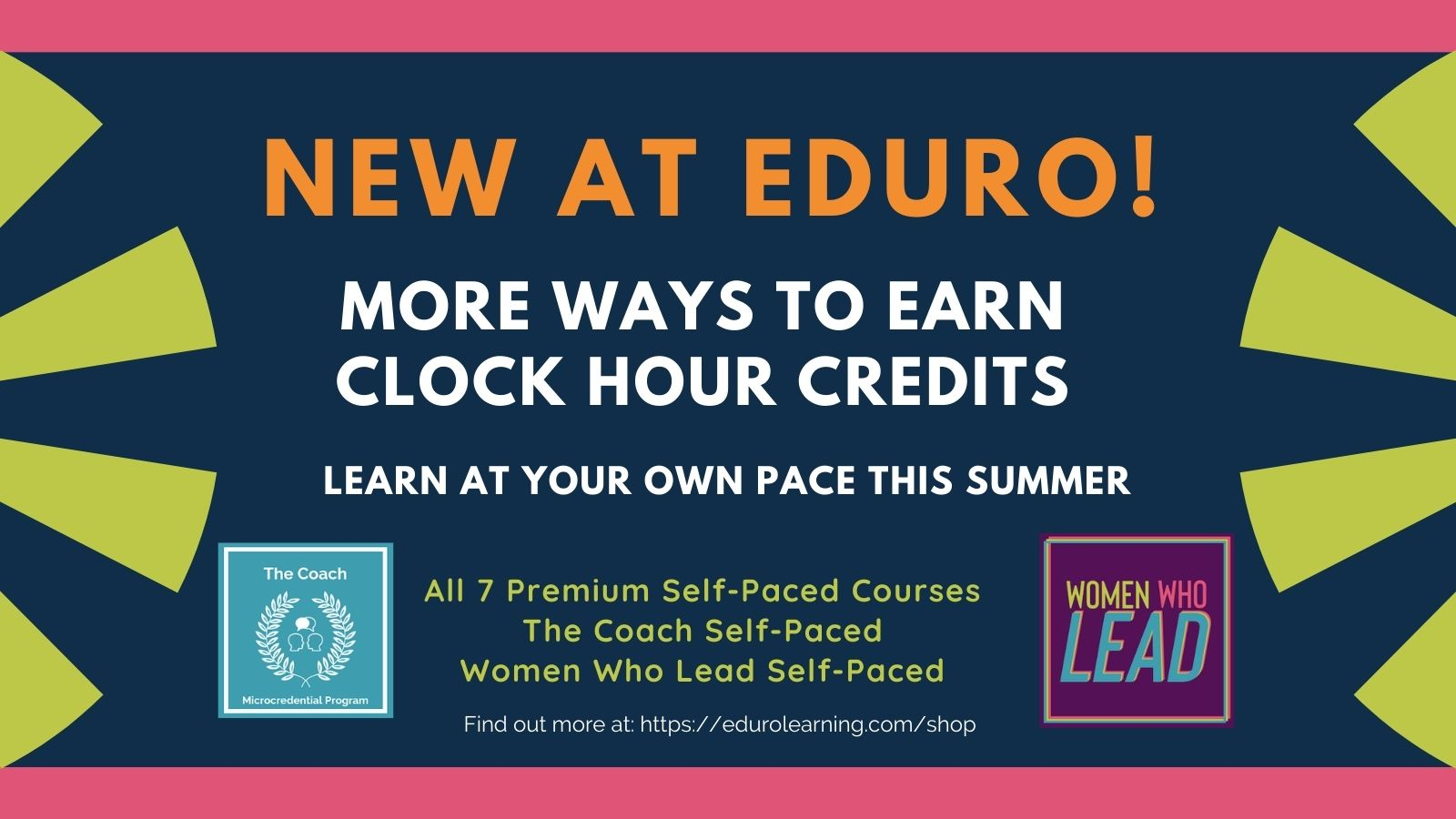 New! More Ways to Earn Clock Hour Credit with Eduro!