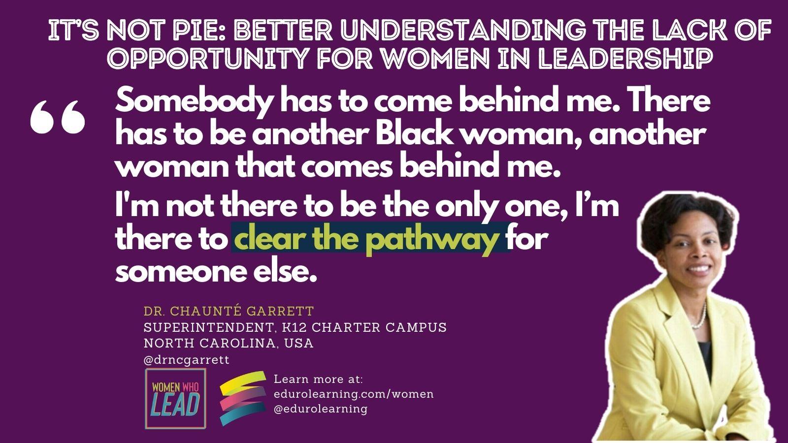 It's Not Pie: Better Understanding the Lack of Opportunity for Women in Leadership