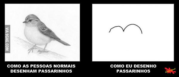 Como as pessoas desenham passarinhos