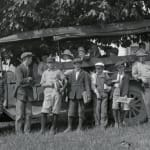 Thumbnail of School Bus with Mr. Wilson driver & students