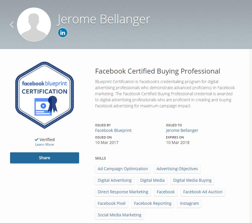 facebook certification   devenez un professionnel certifi u00e9