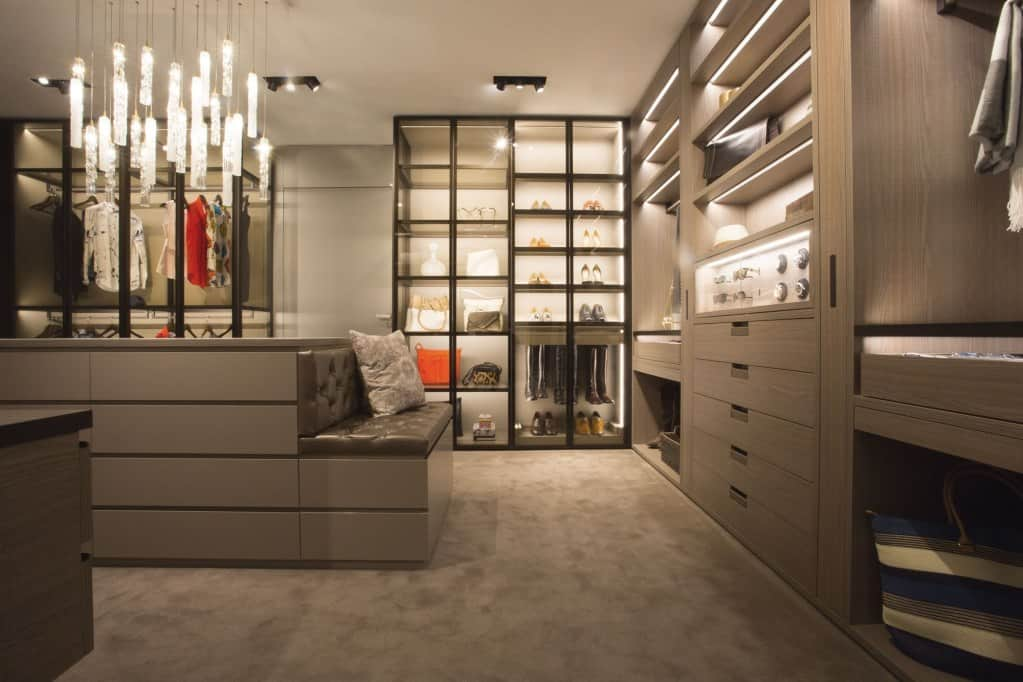 highly function and glamourous schmalenbach high-end custom closet featured at eggersmann los angeles showroom