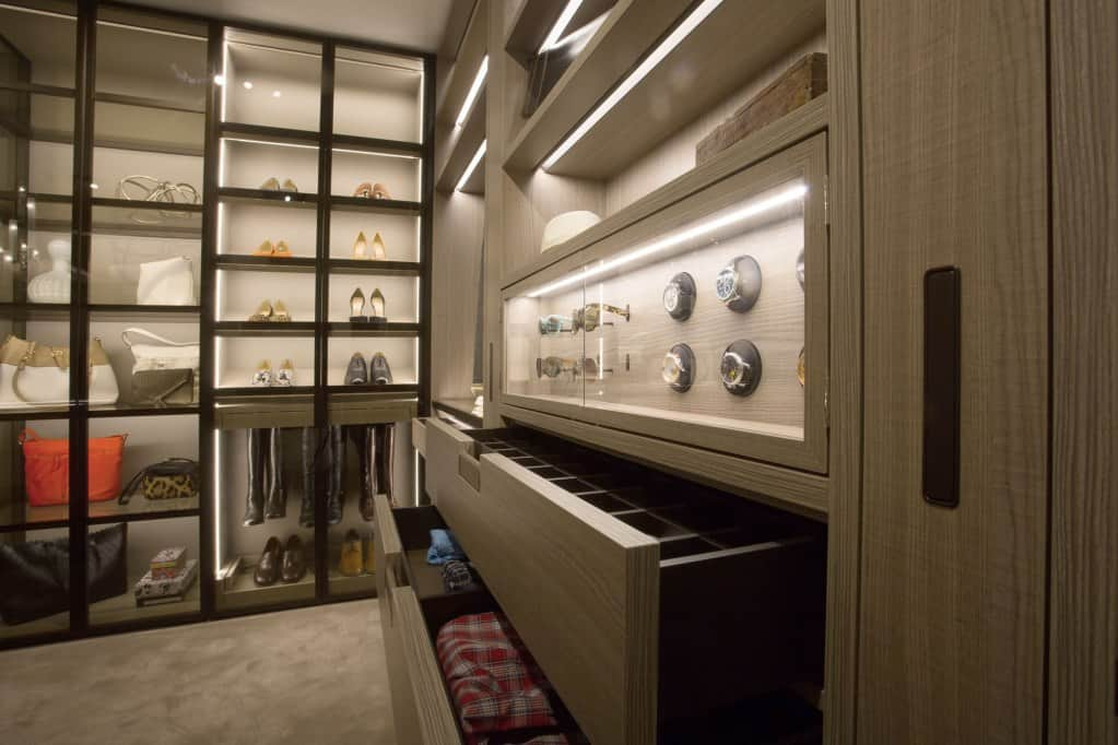 schmalenbach high-end custom closet featured at eggersmann los angeles showroom