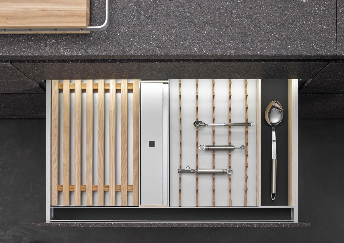 BoxTec - Light Ash bread cutting board, utensil holder, foil storage