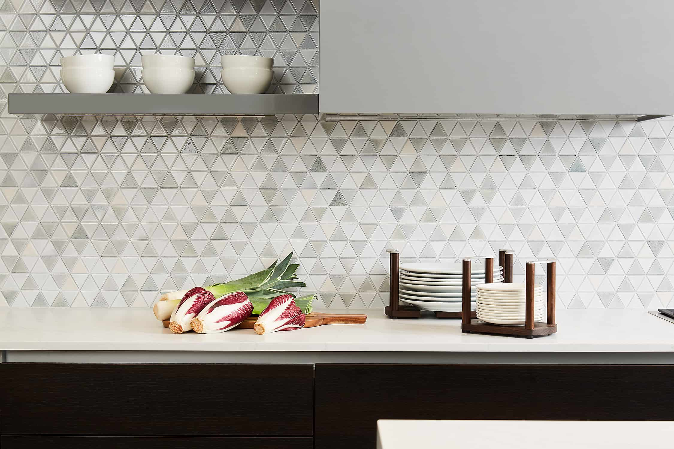 stunning mosaic backsplash of the moussa kitchen project completed by eggersmann la