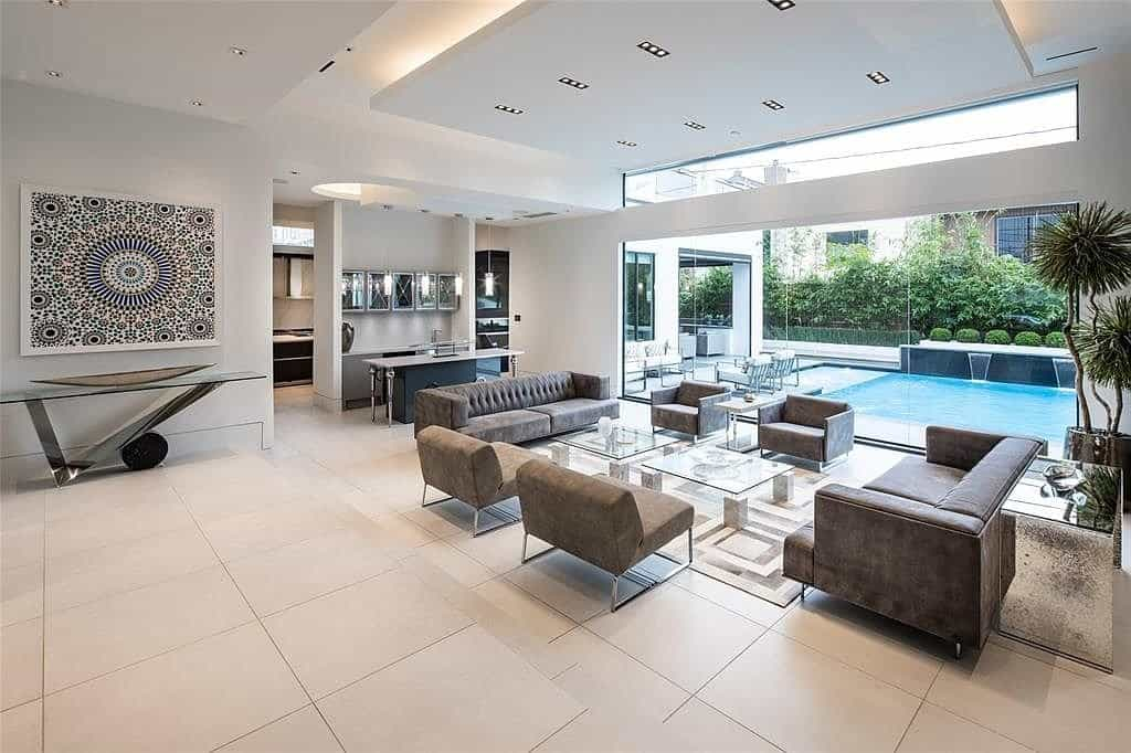living room off the pool deck