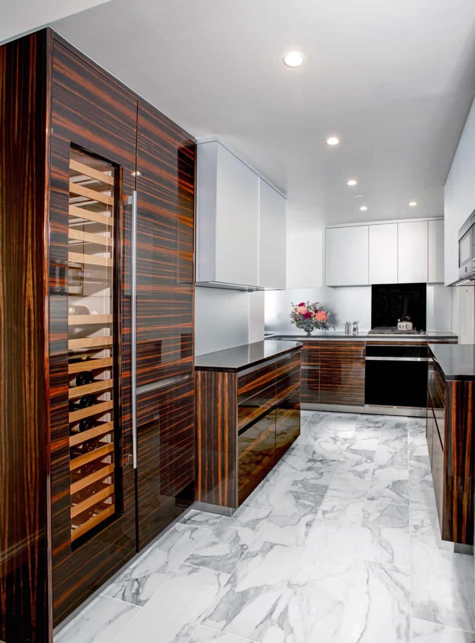 wine fridge in luxury german cabinetry by eggersmann
