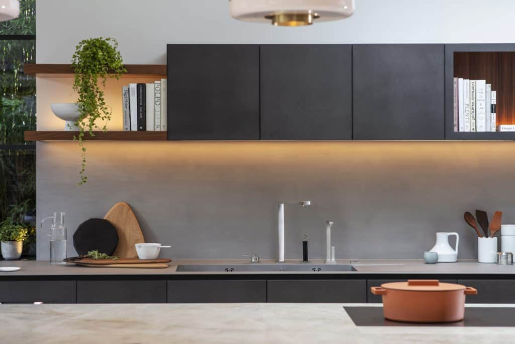 german cabinetry and kitchen sink featured in custom kitchen which is part of the project nominated for sbid international design award 2019