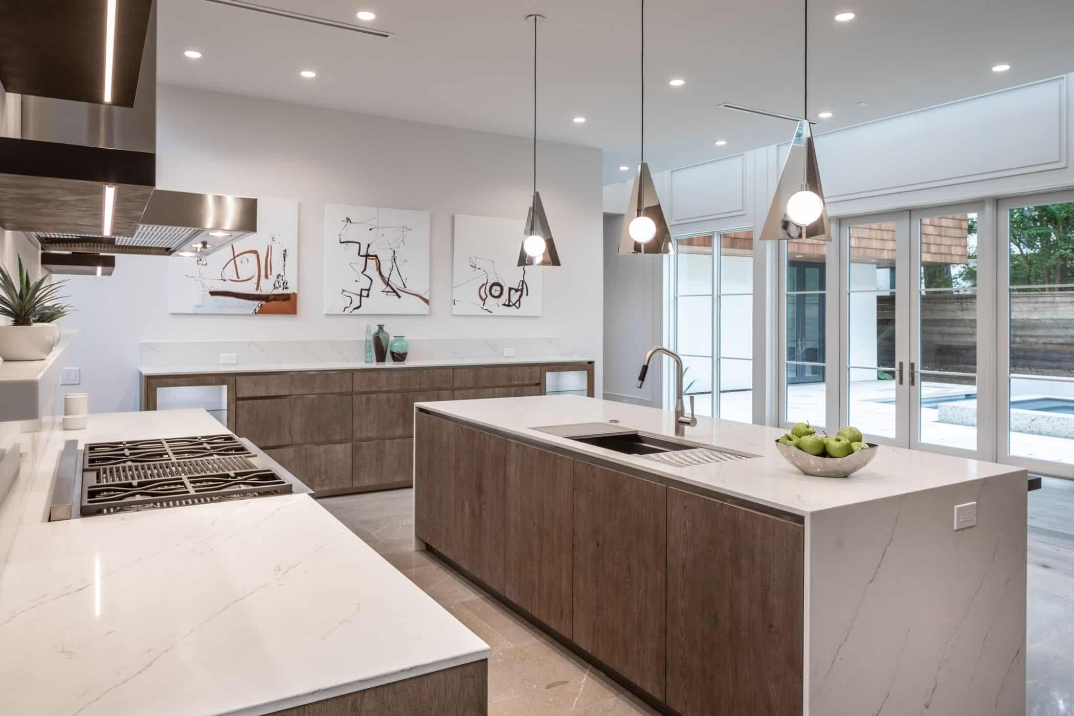 exceptional design of a german kitchen in a washington coalition memorial park area home in houston