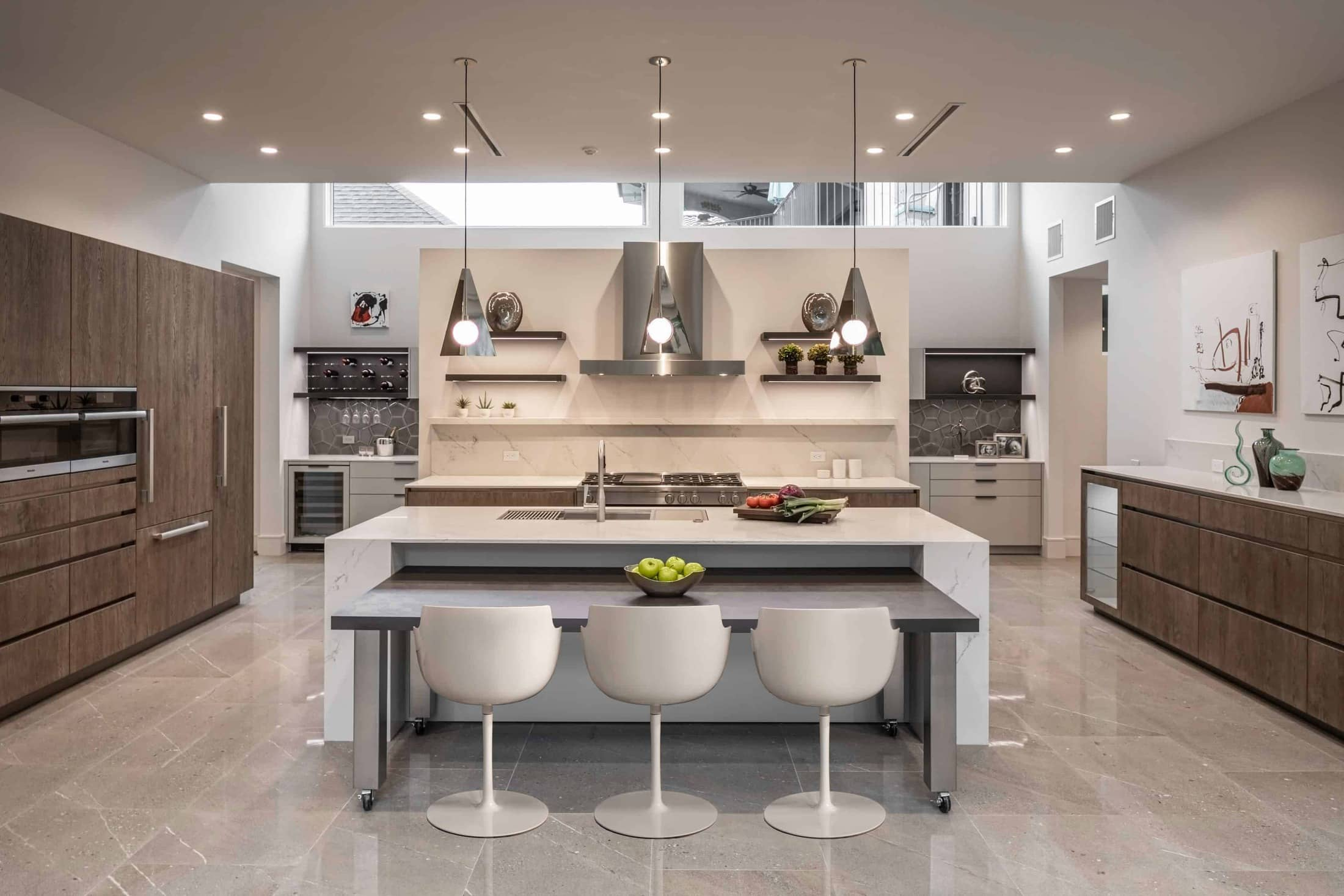 custom german kitchen of a washington coalition memorial park area home in houston renovated by chavez custom homes