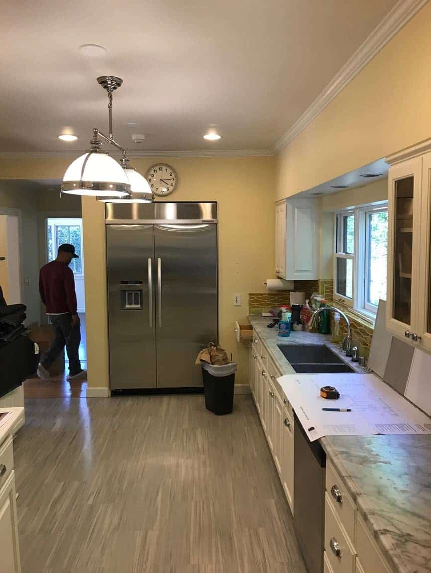 before picture of a hancock park traditional home renovated with an eggersmann kitchen