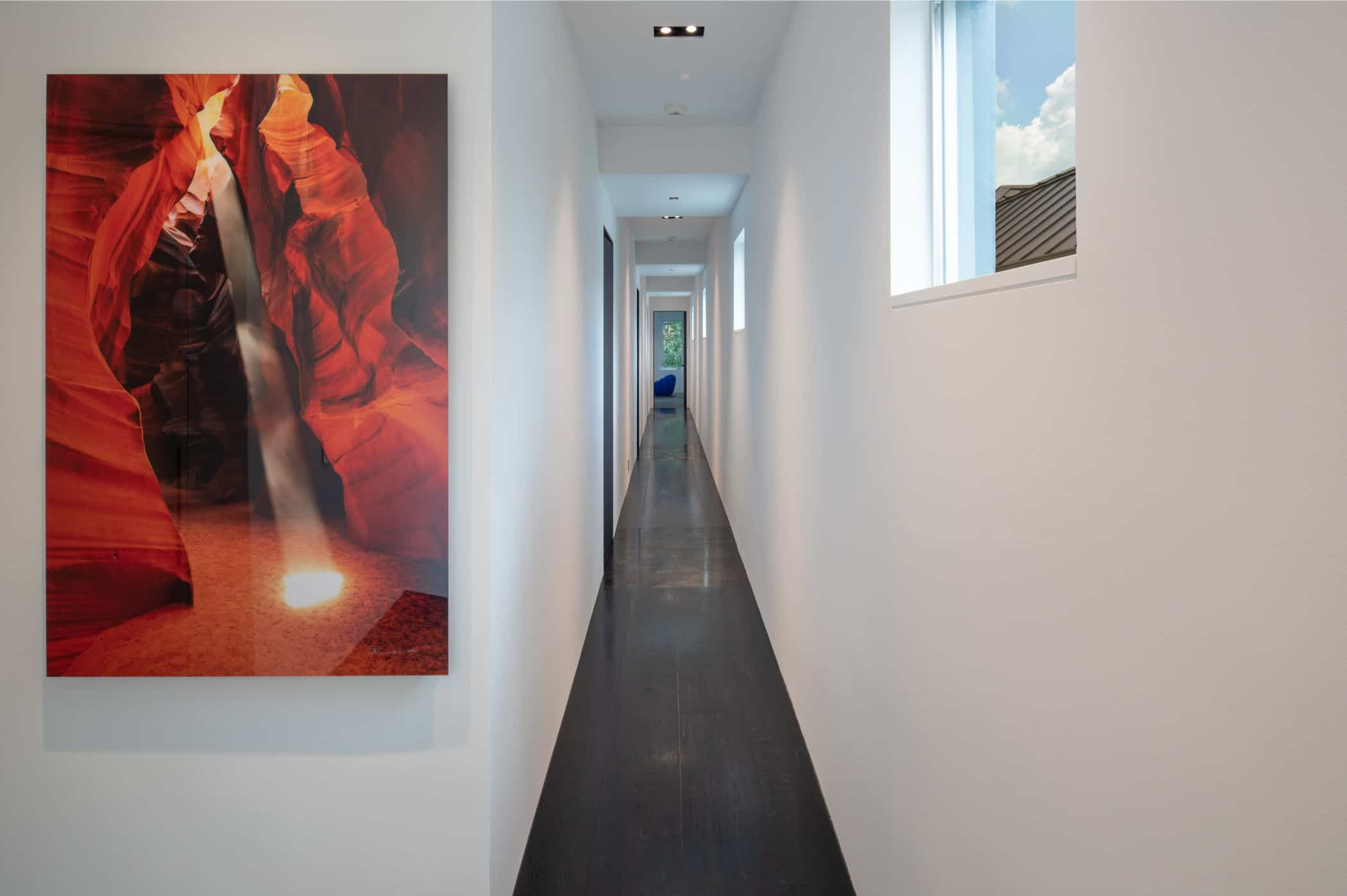 hallway of a houston new construction home