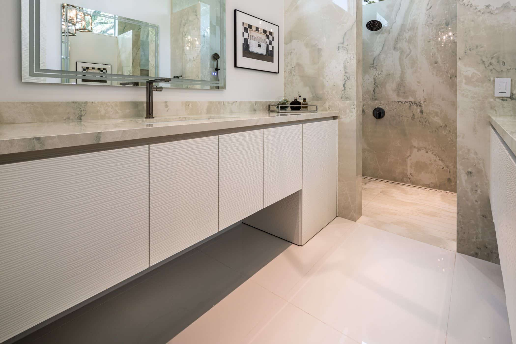 master bathroom fitted by eggersmann in a houston new construction home