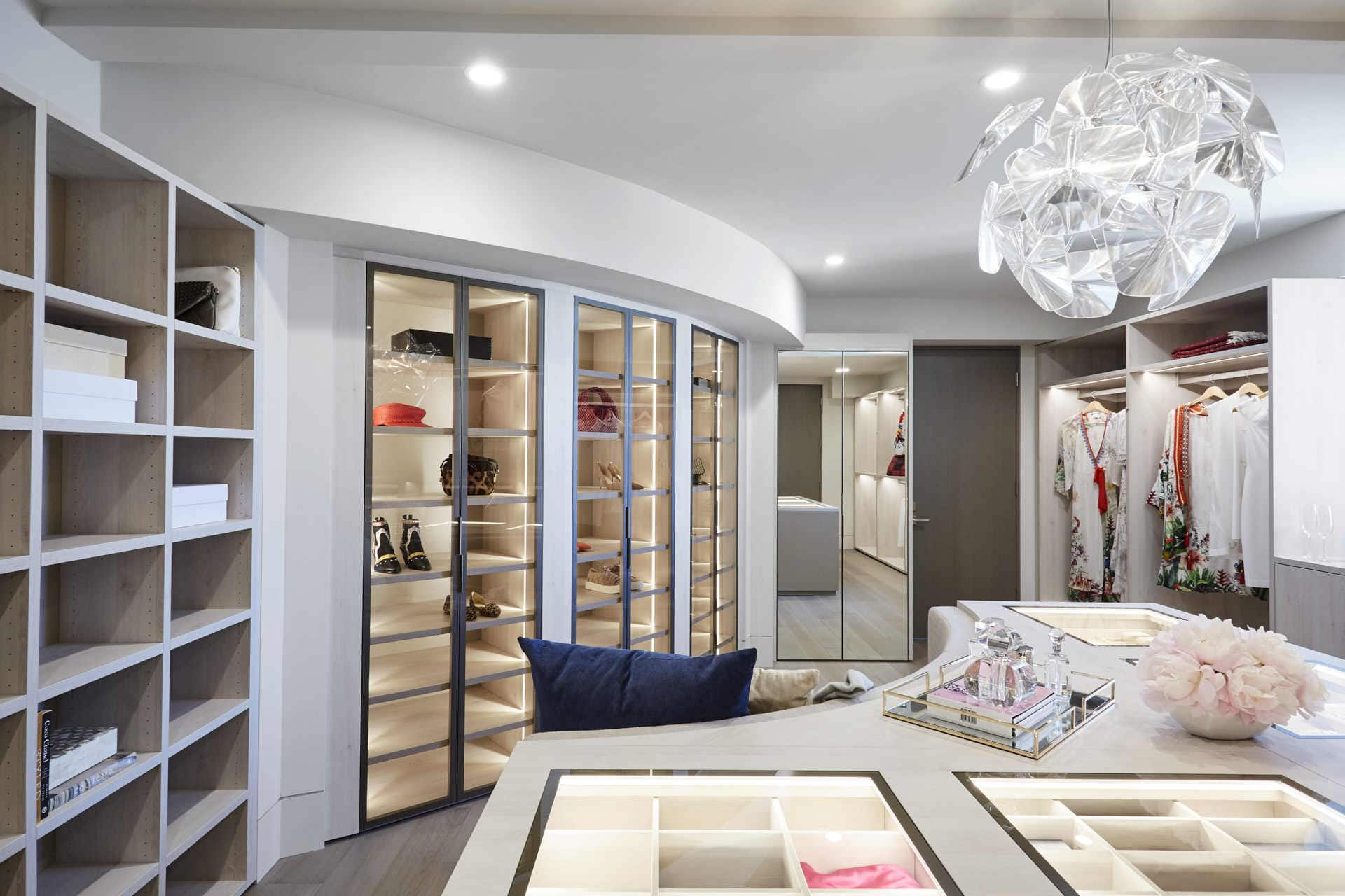 diverse types of storage in a custom schmalenbach closet