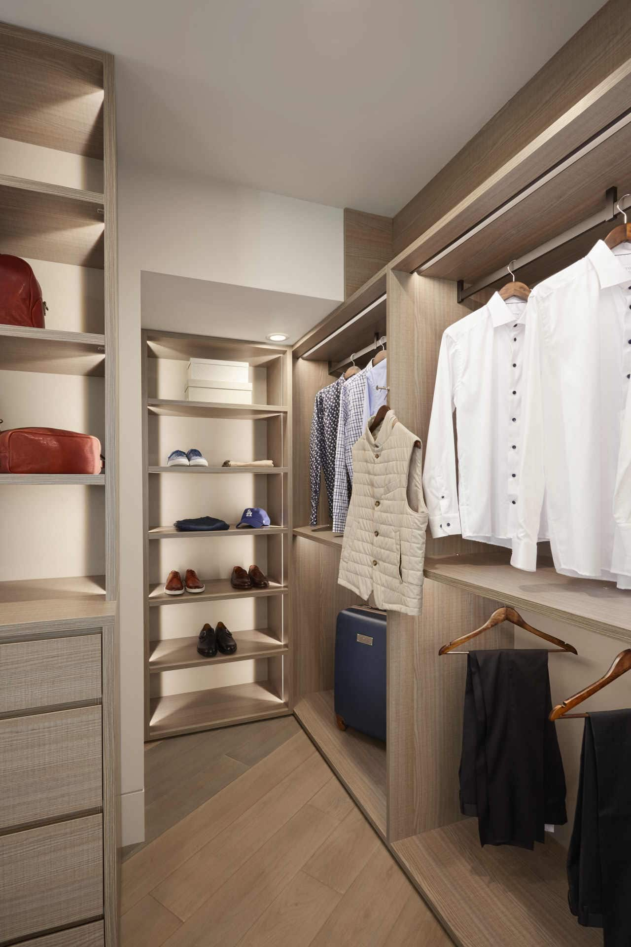 custom luxury schmalenbach closet contains a wide variety of innovative storage options