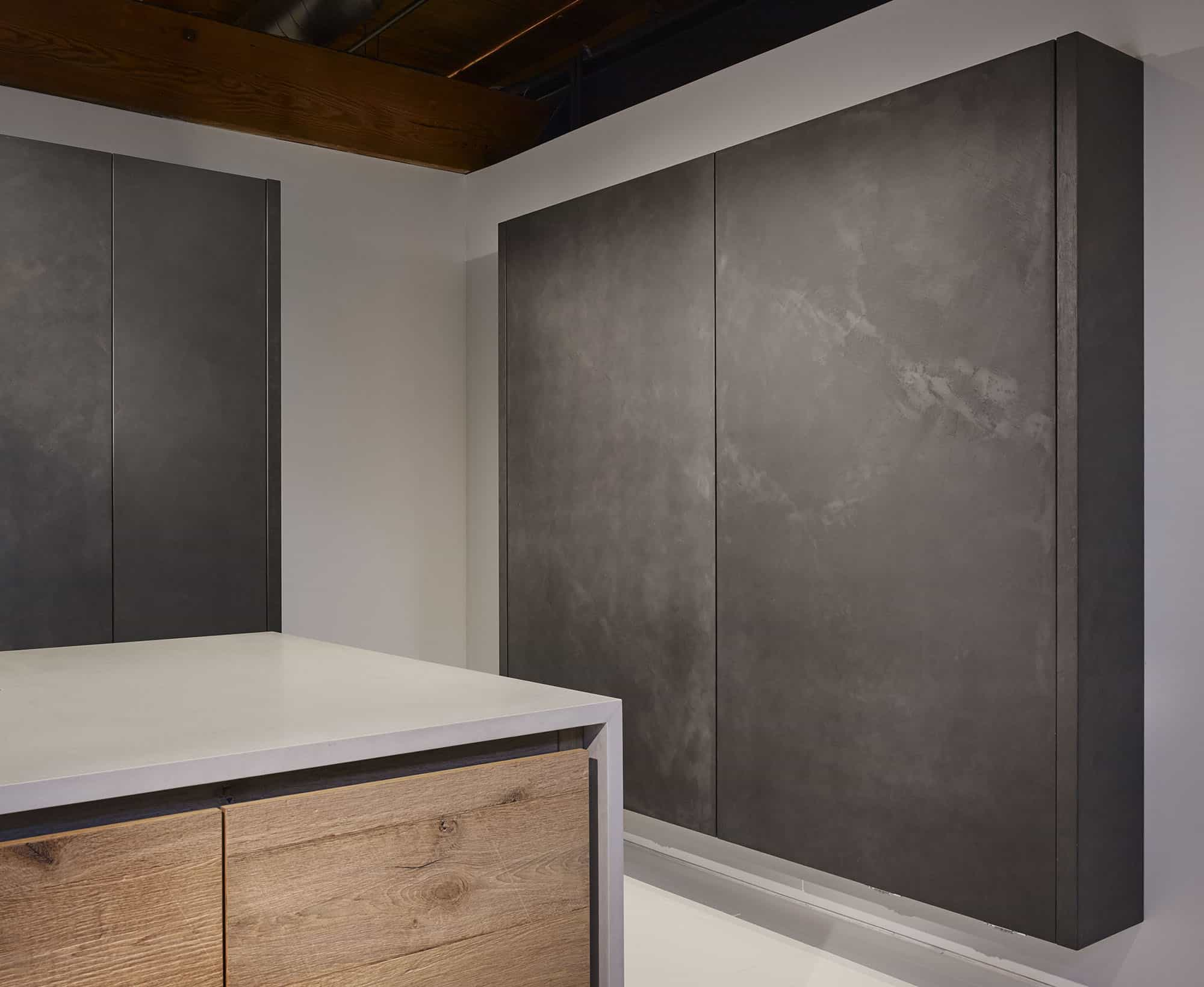electric sliding doors hide away storage