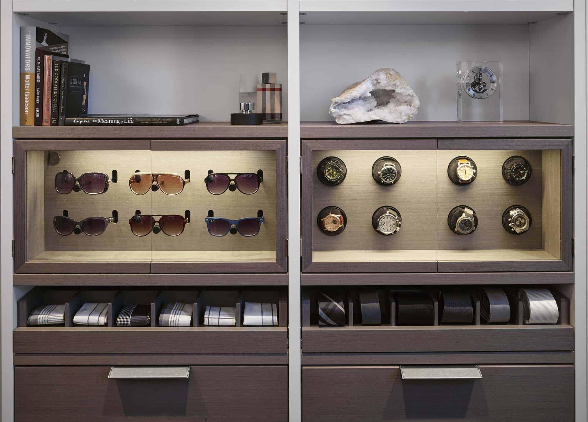 hidden safe concealed in a luxury custom closet
