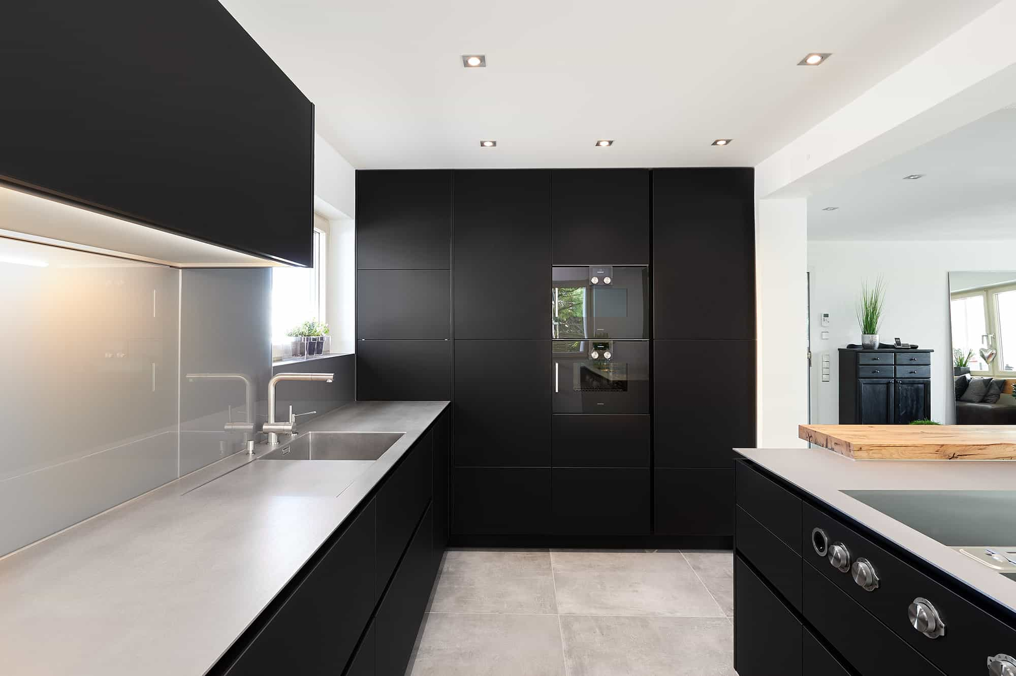 Hot Rolled Stainless steel worktop with Nano Black