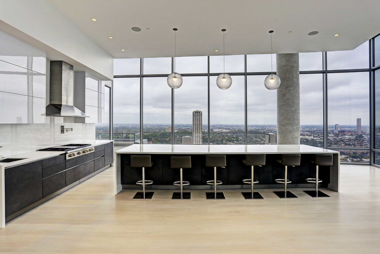 luxury german kitchen by eggersmann of the east penthouse in the 2727 kirby luxury high rise condos in houston