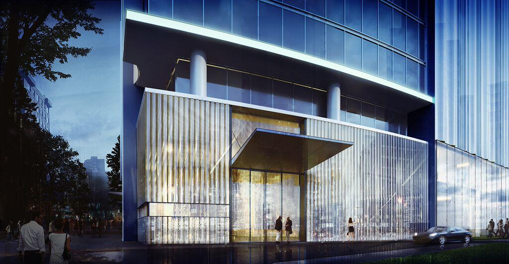houston's arabella high rise condos grand front entrance