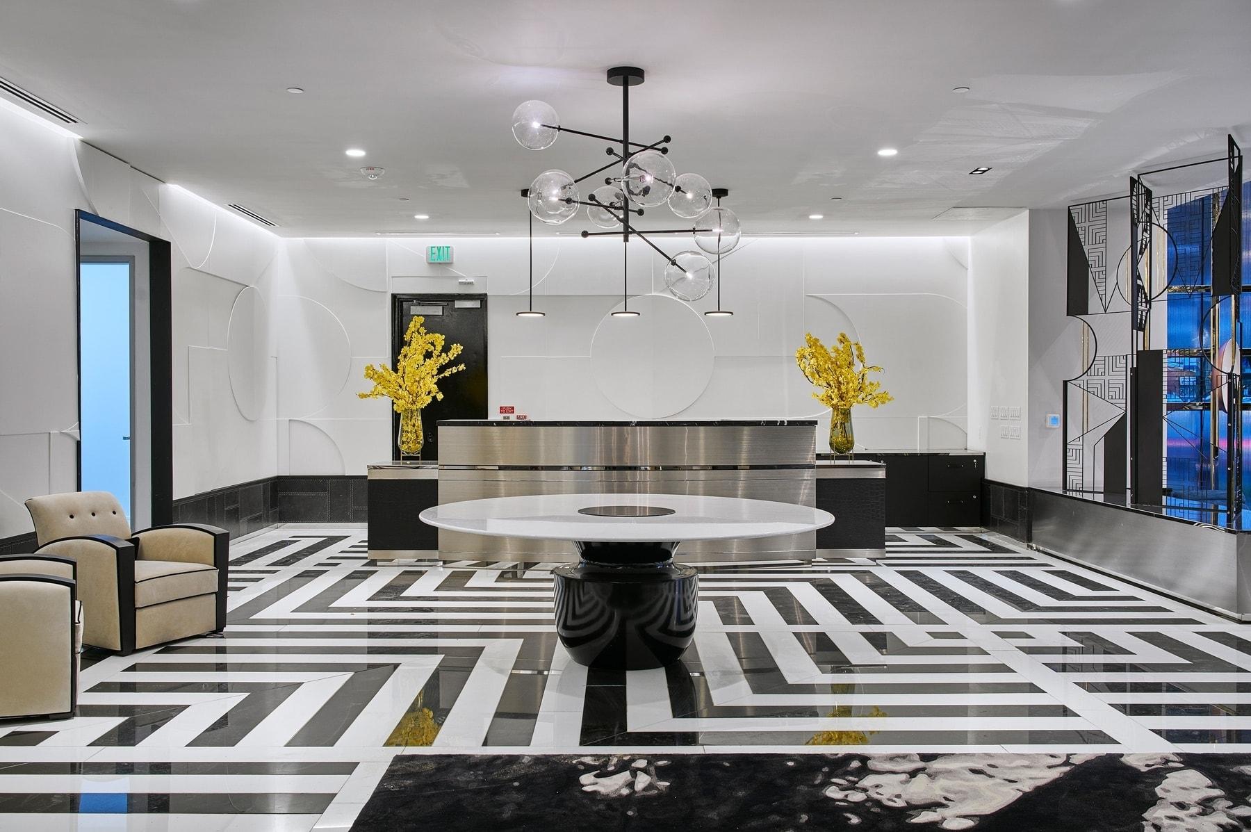 houston's arabella high rise condos lobby front desk