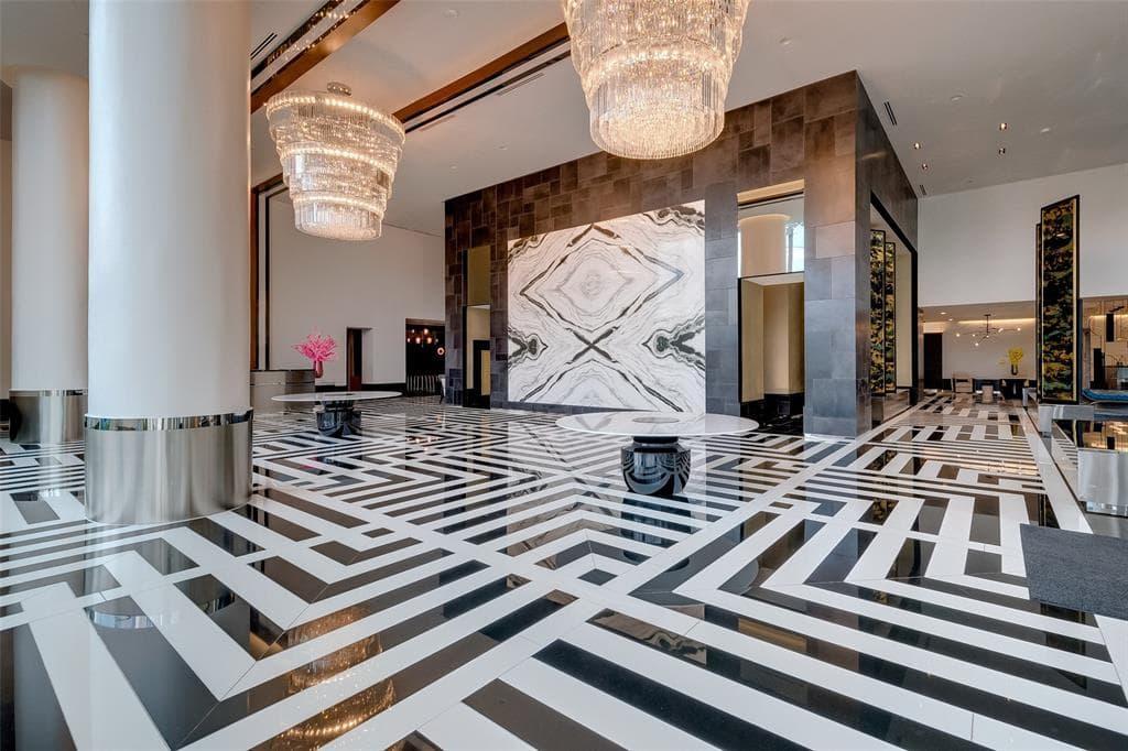 houston's arabella high rise condos lobby