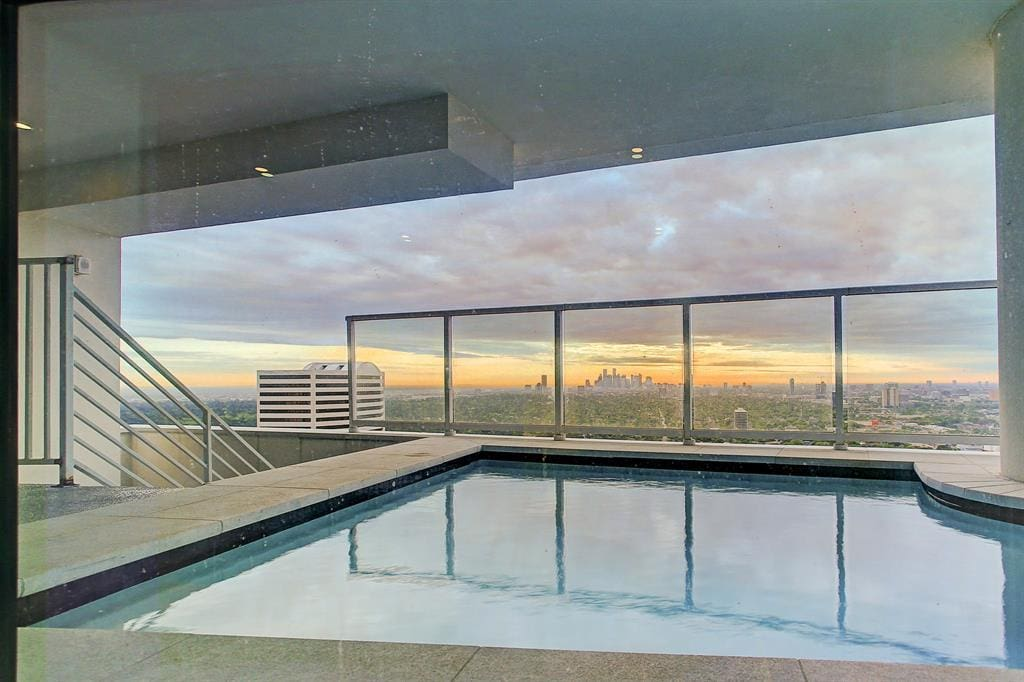 houston's arabella high rise condos penthouse private pool with panoramic views