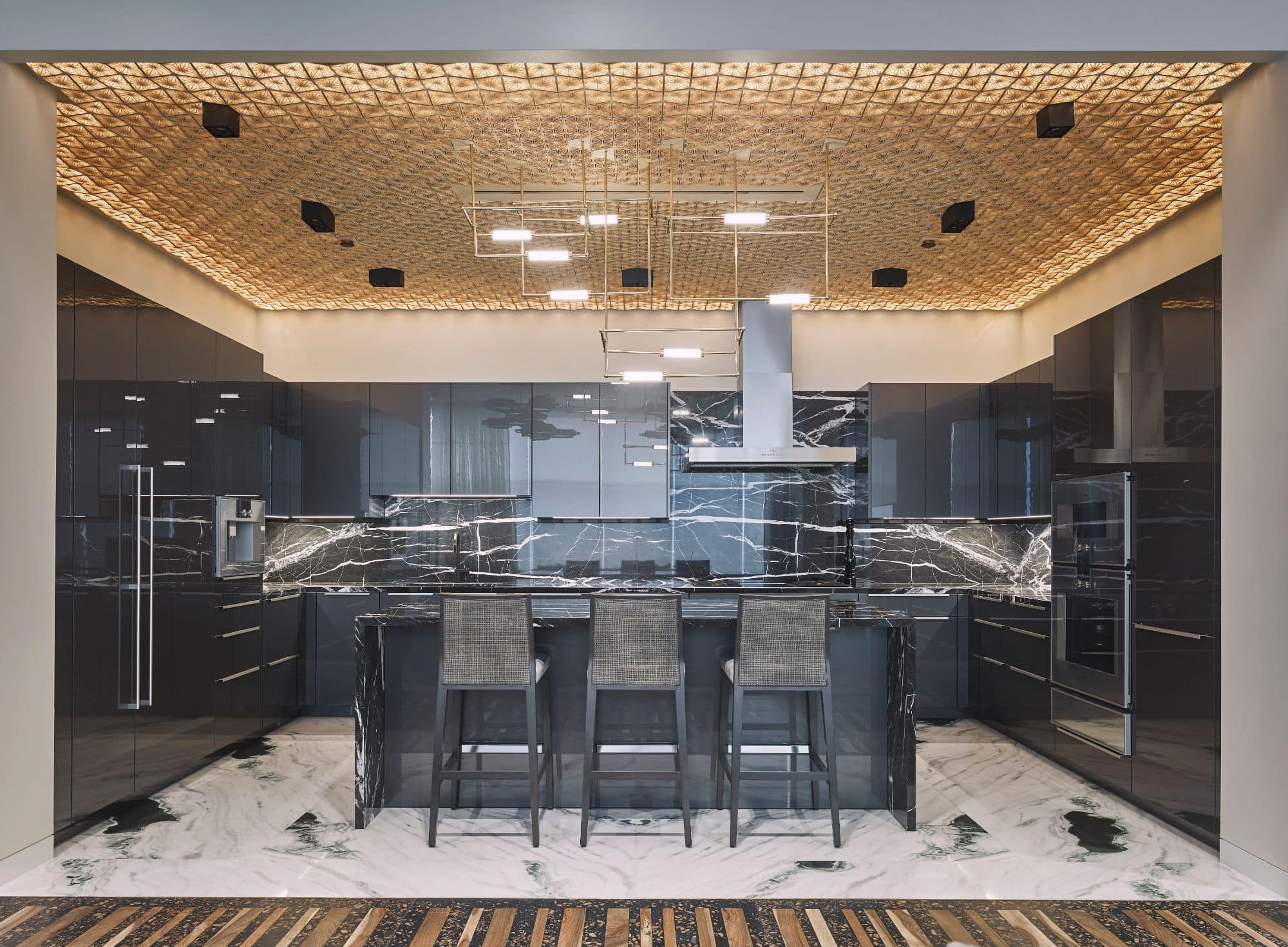 luxury contemporary eggersmann kitchen inside a penthouse of the arabella luxury high rise in houston